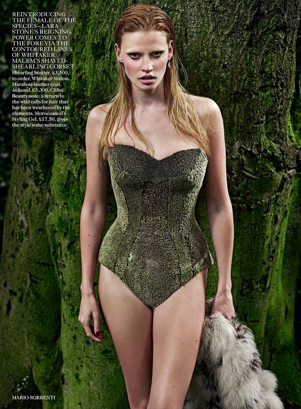 visual optimism; fashion editorials, shows, campaigns & more!: the wolf in her: lara stone by mario sorrenti for uk vogue september 2014