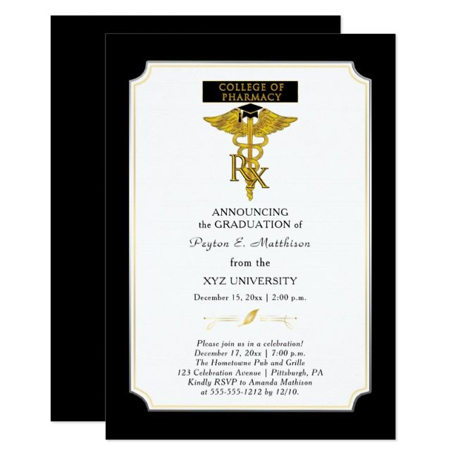 Pharmacy College Pharmacist |Toxicology Graduation Invitation