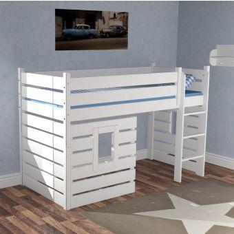 Cool Hochbett H ttenbett BEACH wei umbaubar zum Einzelbett g nstig online kaufen Dannenfelser