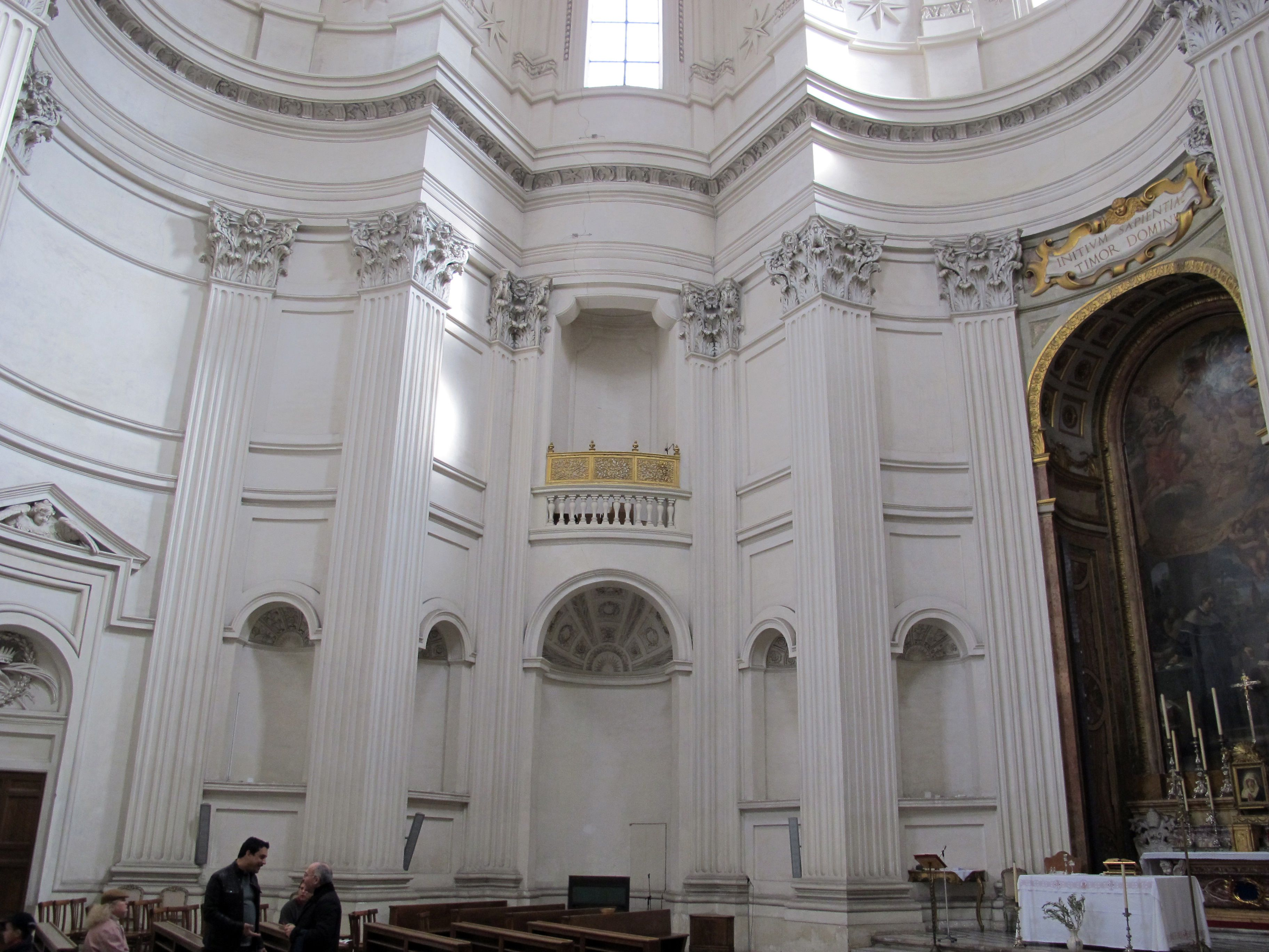 Italian baroque architecture borromini interior of sant for Italian baroque architecture