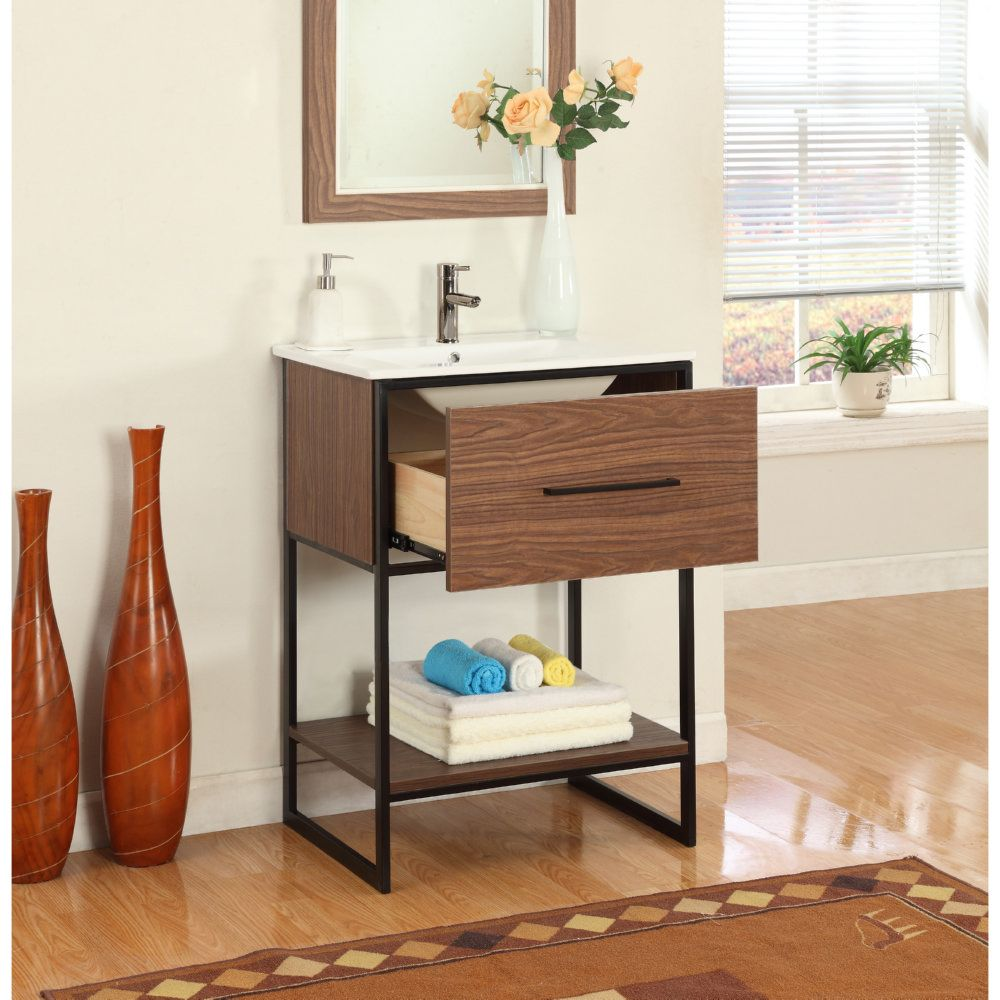quot vanity with finish nightstand frame maple metal furniture black legion