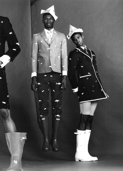 from Thom BrowneHenry Watkins and Salieu Jalloh by Benny Hornefor Wonderland Magazine