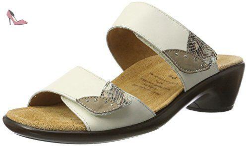 Ganter Gemma-G, Mules Femme, blanc (weiss/multi), 39 EU (6 UK) - Chaussures ganter (*Partner-Link)
