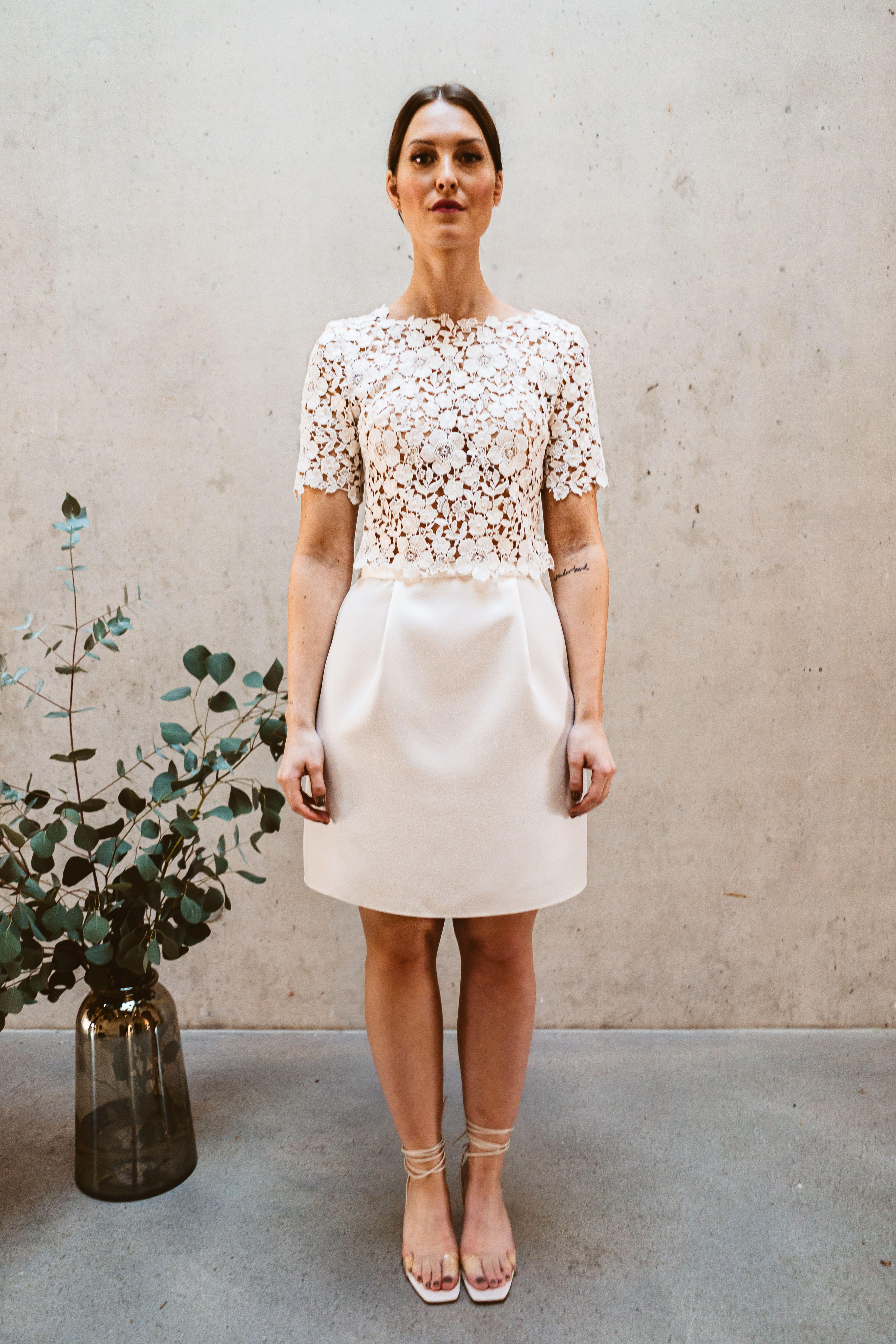 Standesamt Braut-Zweiteiler in 20  Kleid standesamt braut