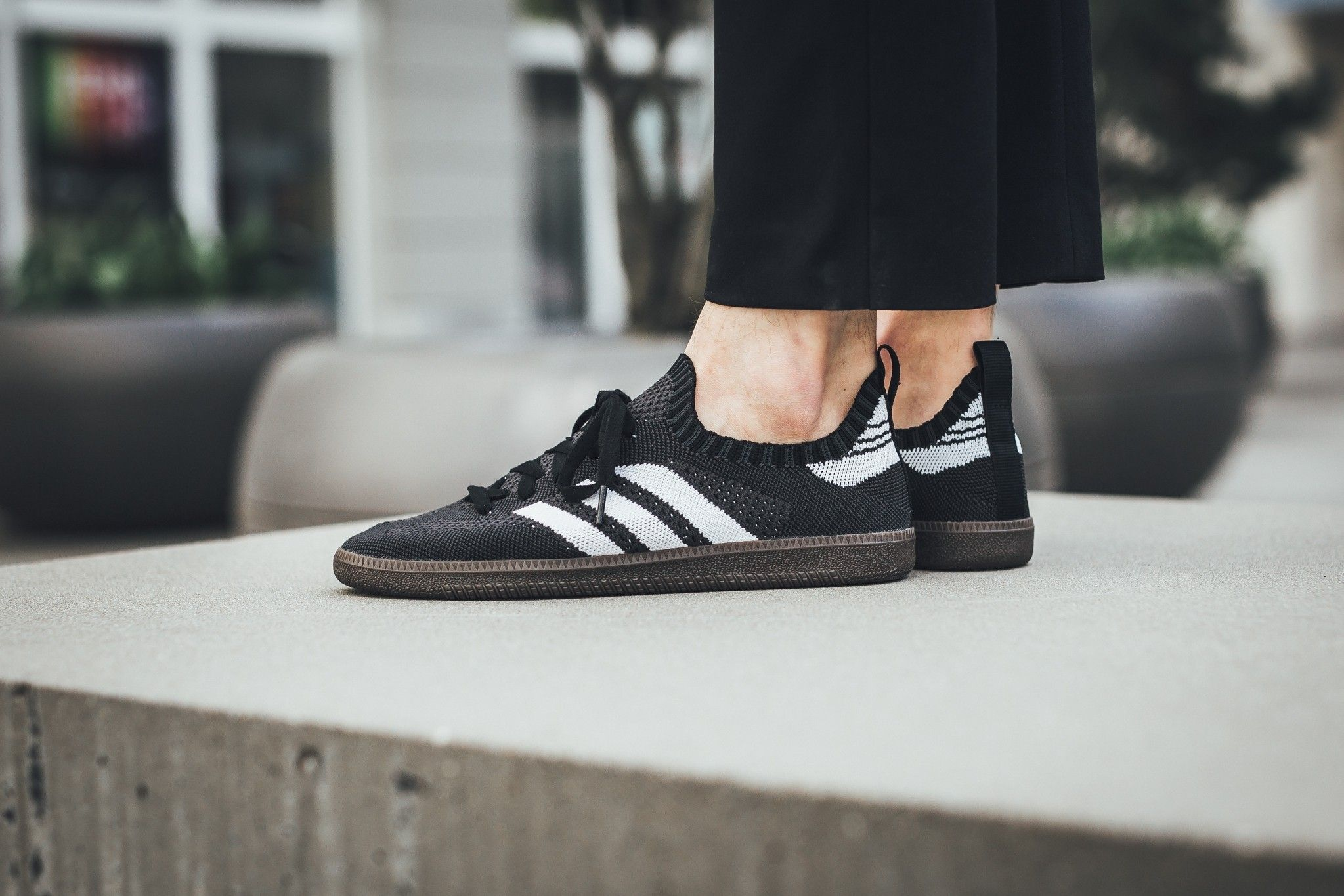 9898b5f9cfc8 adidas Samba Primeknit Sock Core Black Footwear White Core Red ...