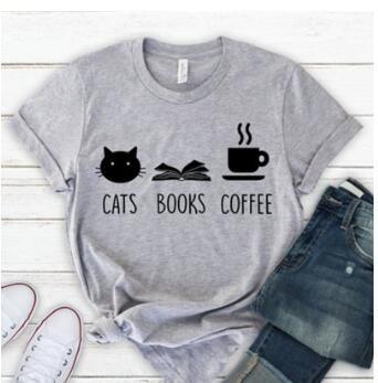 Cats Books Coffee T-Shirt