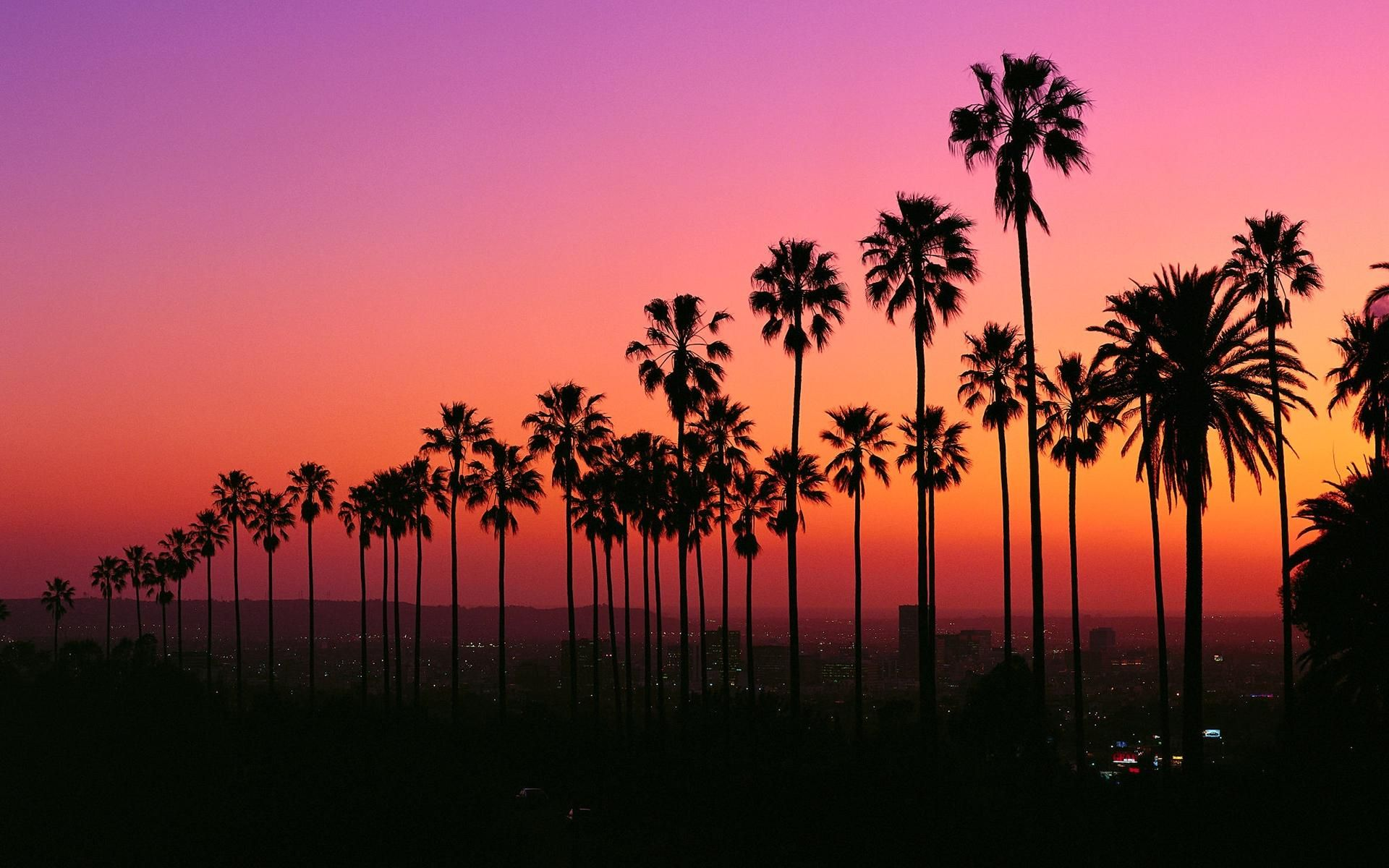 Los Angeles At Twilight 1920x1200 Music Indieartist Chicago