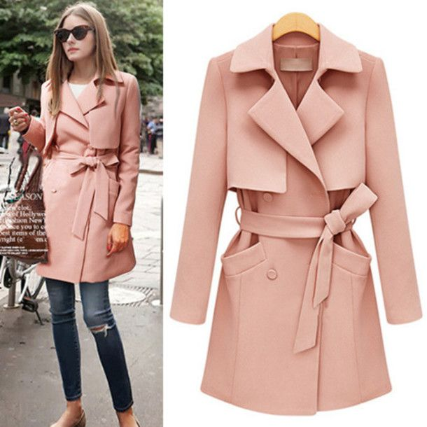 coat jumpsuit fashion beautiful preppy wool coat trench coat ...