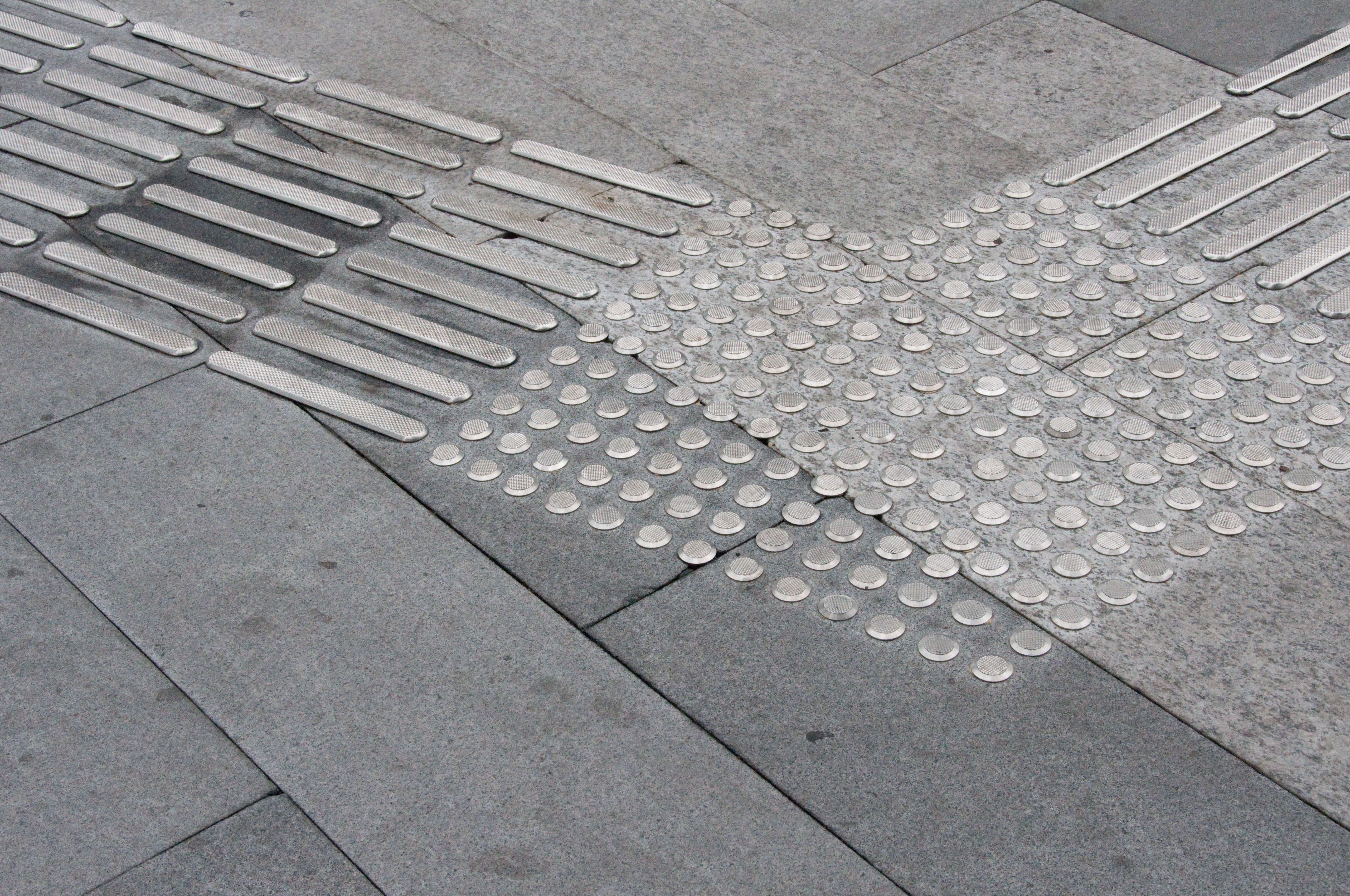 There S A Code On The Street Blind People Can Read With Their Feet Paving Design Pavement Design Tactile Paving