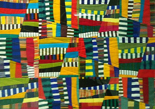 Currently featured at the Sky Harbor Airport in Phoenix, the Friction 1 Quilt by Ruth Garrison of Flagstaff, AZ.