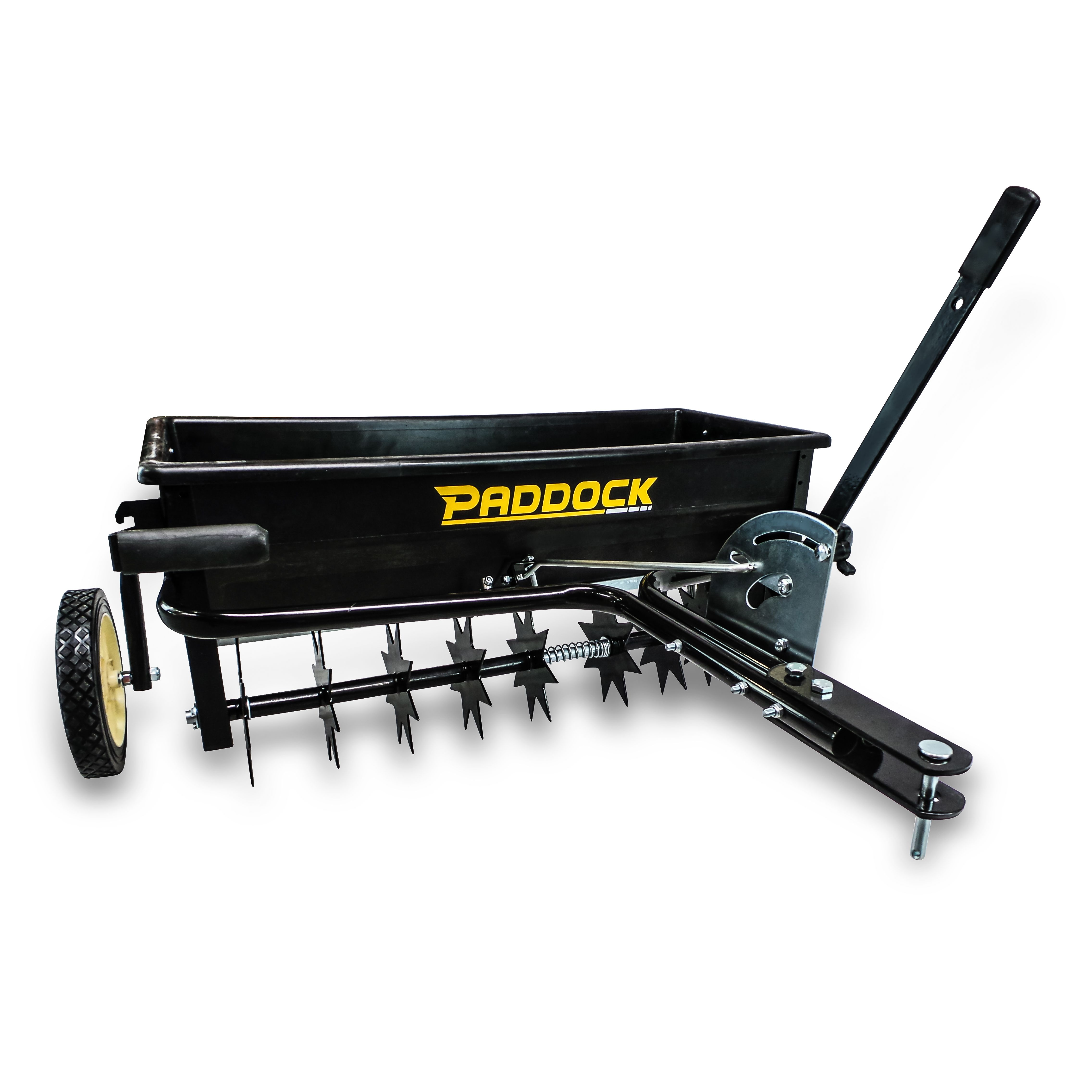 Aerator And Seeder : Spike seeder spreader aerator lawn mower and
