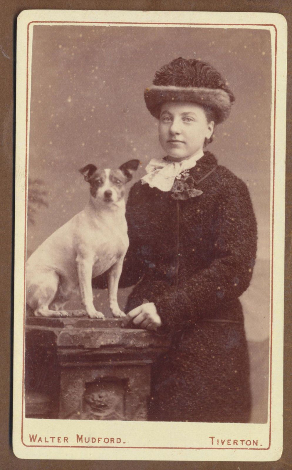 Lady with Jack Russell Dog, Mudford, Tiverton