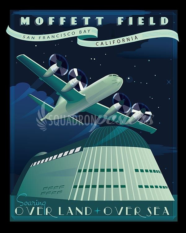 Moffett Federal Airfield P 3 Military Poster Aviation Posters Orion