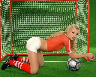 Sexy soccer babes, boy putting penis inside girl pussy