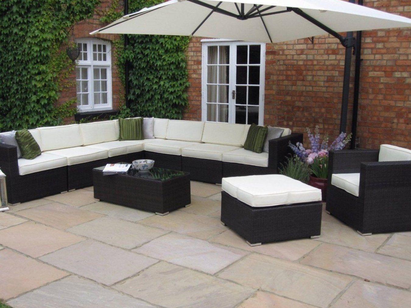 Oakita Rattan Garden Furniture Corner Sofa and King Parasol # in