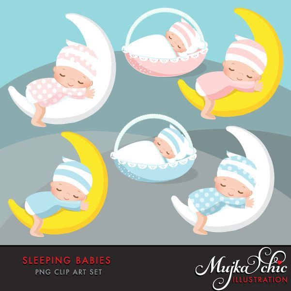 Baby Clipart. Pink and blue baby graphics. Baby Shower ...