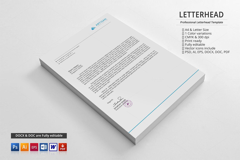 Corporate Letterhead With Images Letterhead Letterhead