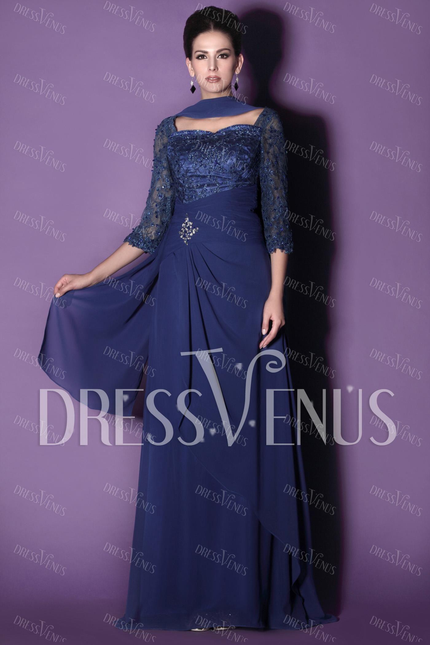 Dark royal blue,chiffon,elegant dresses | Wedding party dresses ...