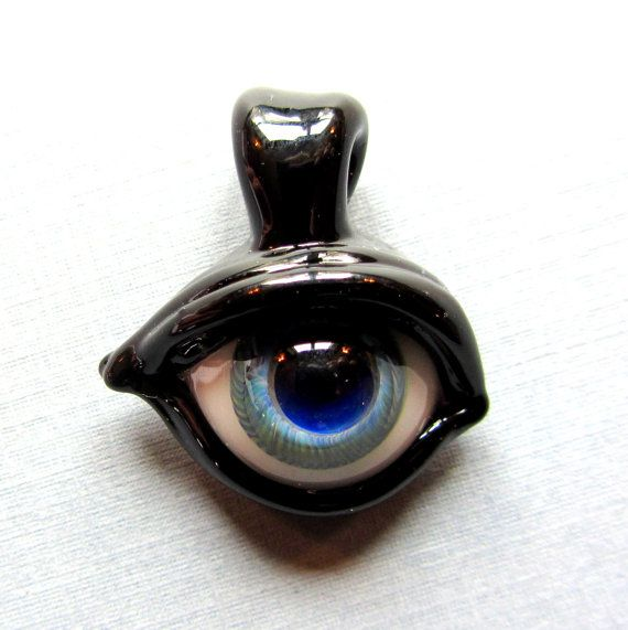 Glass eyeball pendant flameworked borosilicate all seeing eye eye glass eyeball pendant flameworked by derekjonesglassart on etsy aloadofball Choice Image