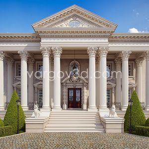 3d Scena Classical Manor Arsitektur Klasik Arsitektur Desain Arsitektur