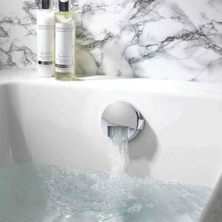 Crosswater slimline overflow bath filler with click clack