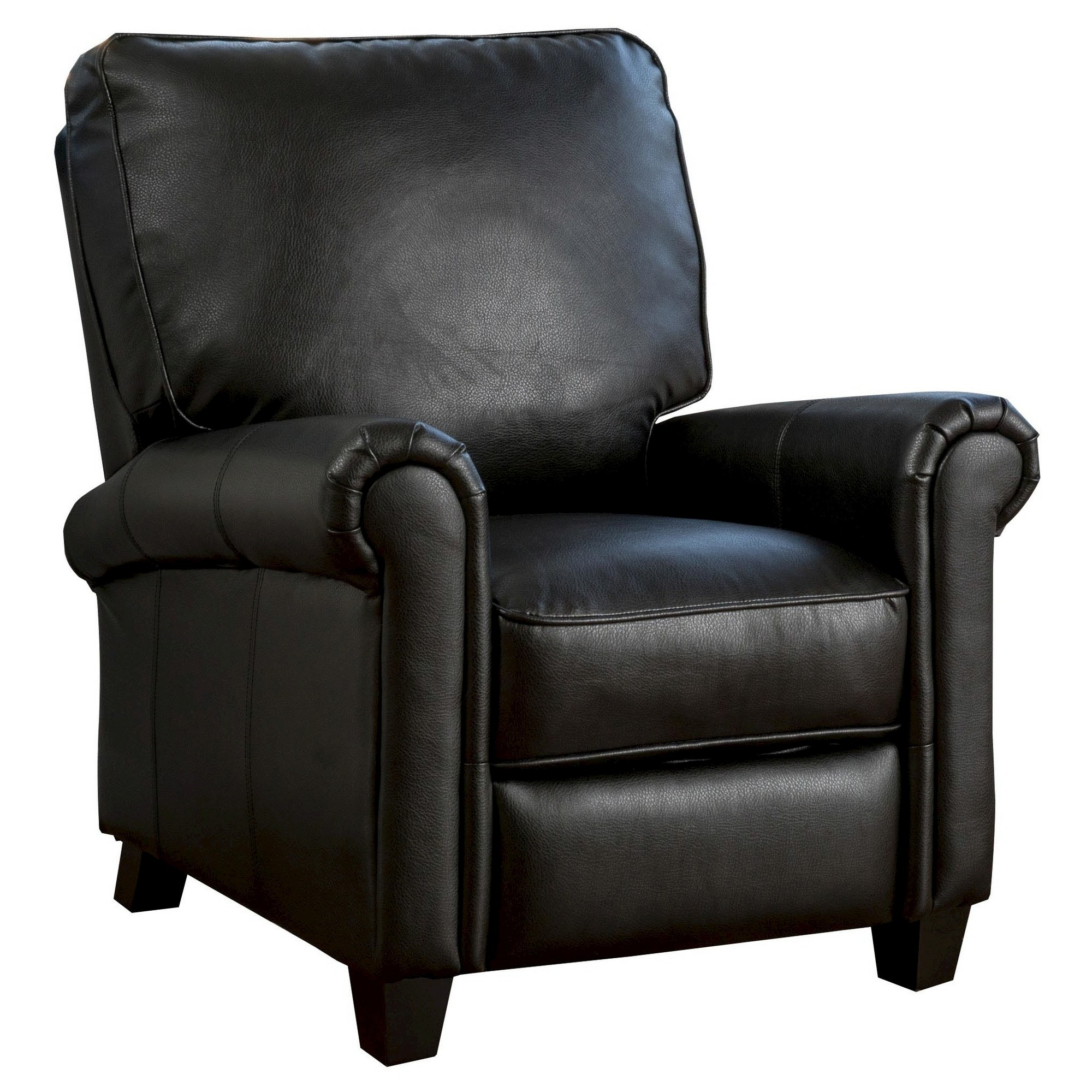 Dallon PU Leather Recliner Club Chair   Black   Christopher Knight Home