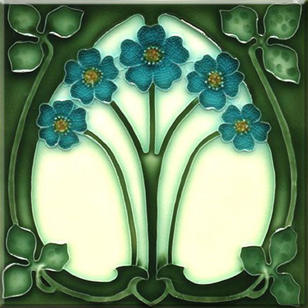 Decorative Ceramic tile 4.25 X 4.25 inches, Illustration Vintage art nouveau #37