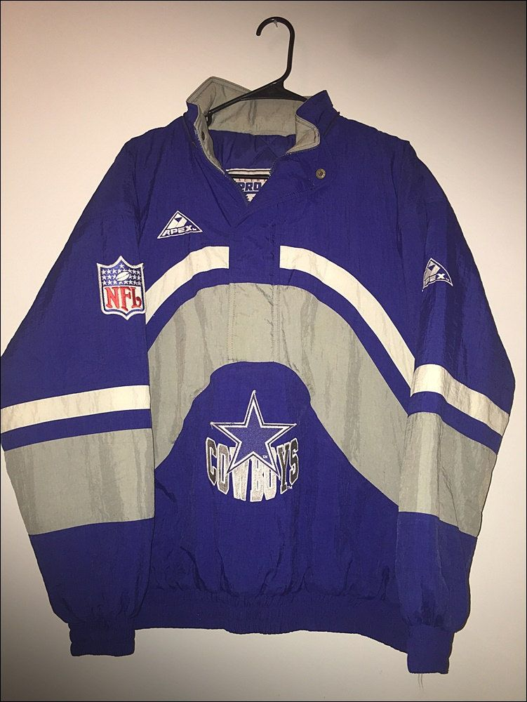 Vintage 90 s NFL Dallas Cowboys Apex One Pullover Parka Coat - Size XL by… c95da7e93