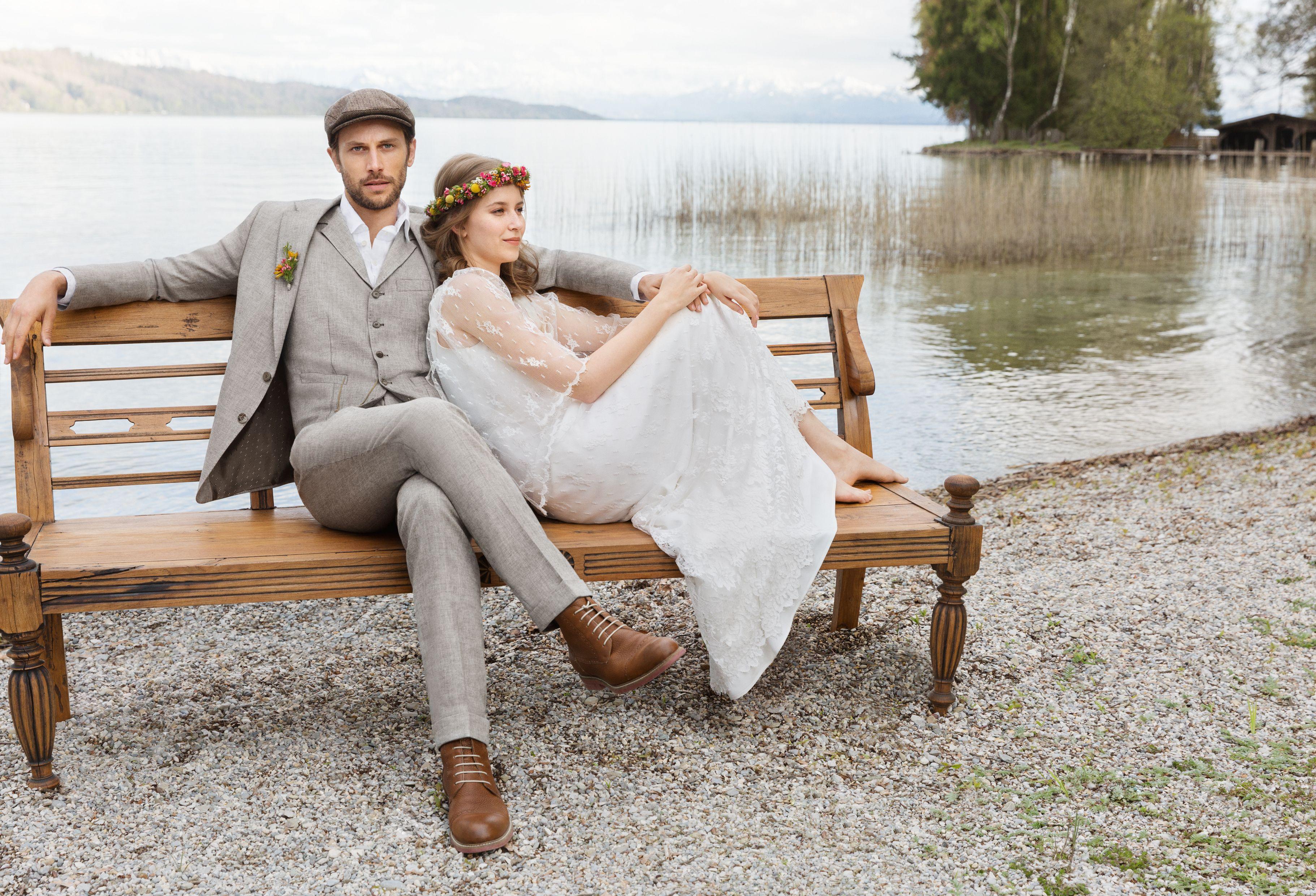 Hochzeitsanzug Im Vintage Look Mit Passender Weste Und