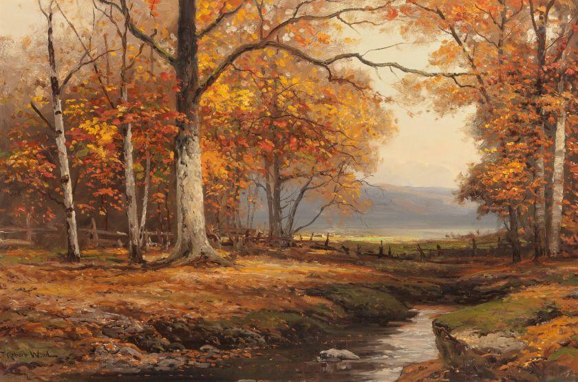 Robert william wood american 18891979 autumn in