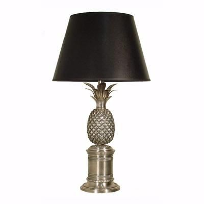 Bermuda Pineapple Table Lamp Base Antique Silver In 2020 Pineapple Lamp Table Lamp Table