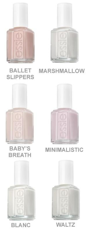 Essie Nail Polish Best Selection Of White Ish And Nude Light Pink Colors By HOLLACHE