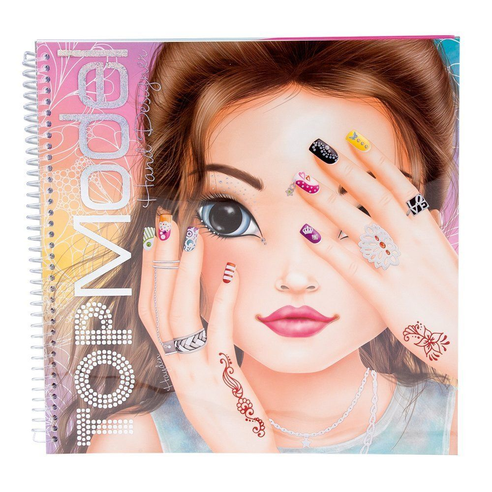 Depesche top model create your hand design colouring book - Jeux de top mode ...
