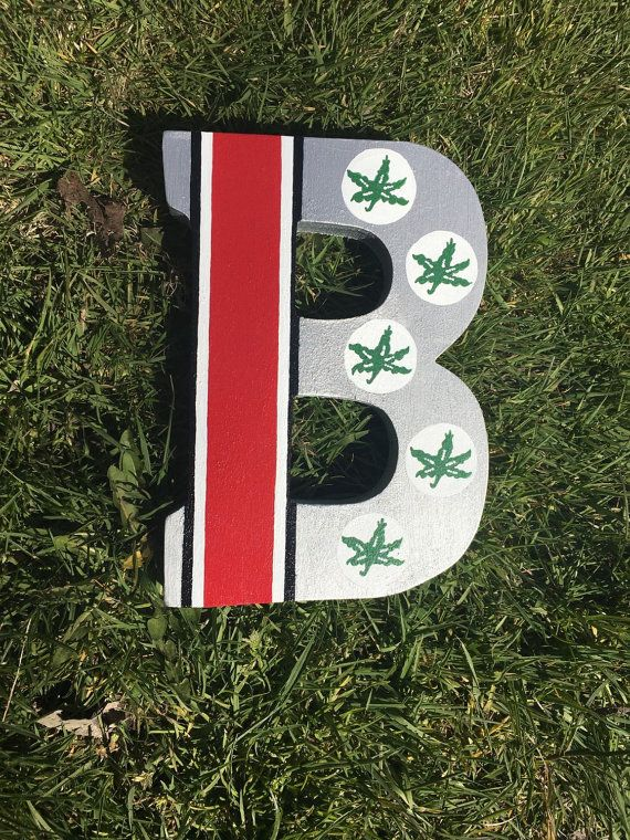 Items similar to Ohio State Buckeyes Stand Alone Wooden Letter on Etsy