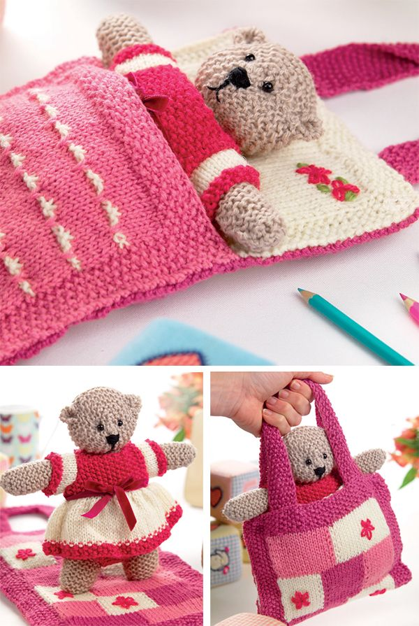 Teddy Bear Knitting Patterns #knittedtoys