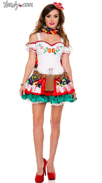 sexy mexikanische Mädchen Kostüm