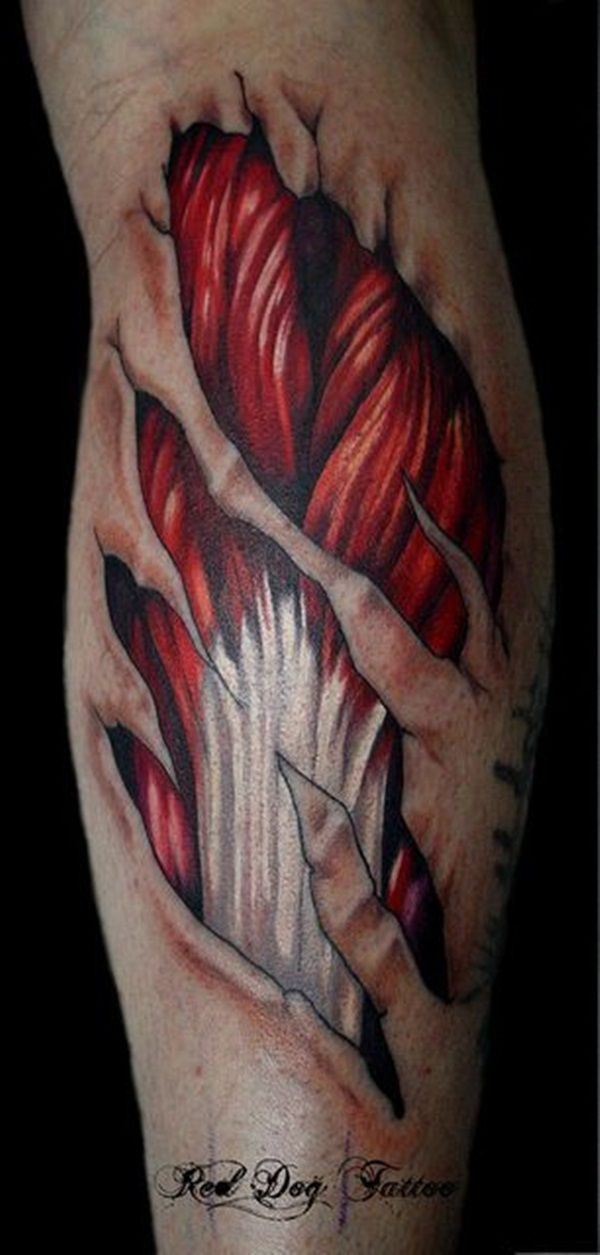 40 Cool And Amazing Ripped Skin Tattoos | tattoos | Ripped ...
