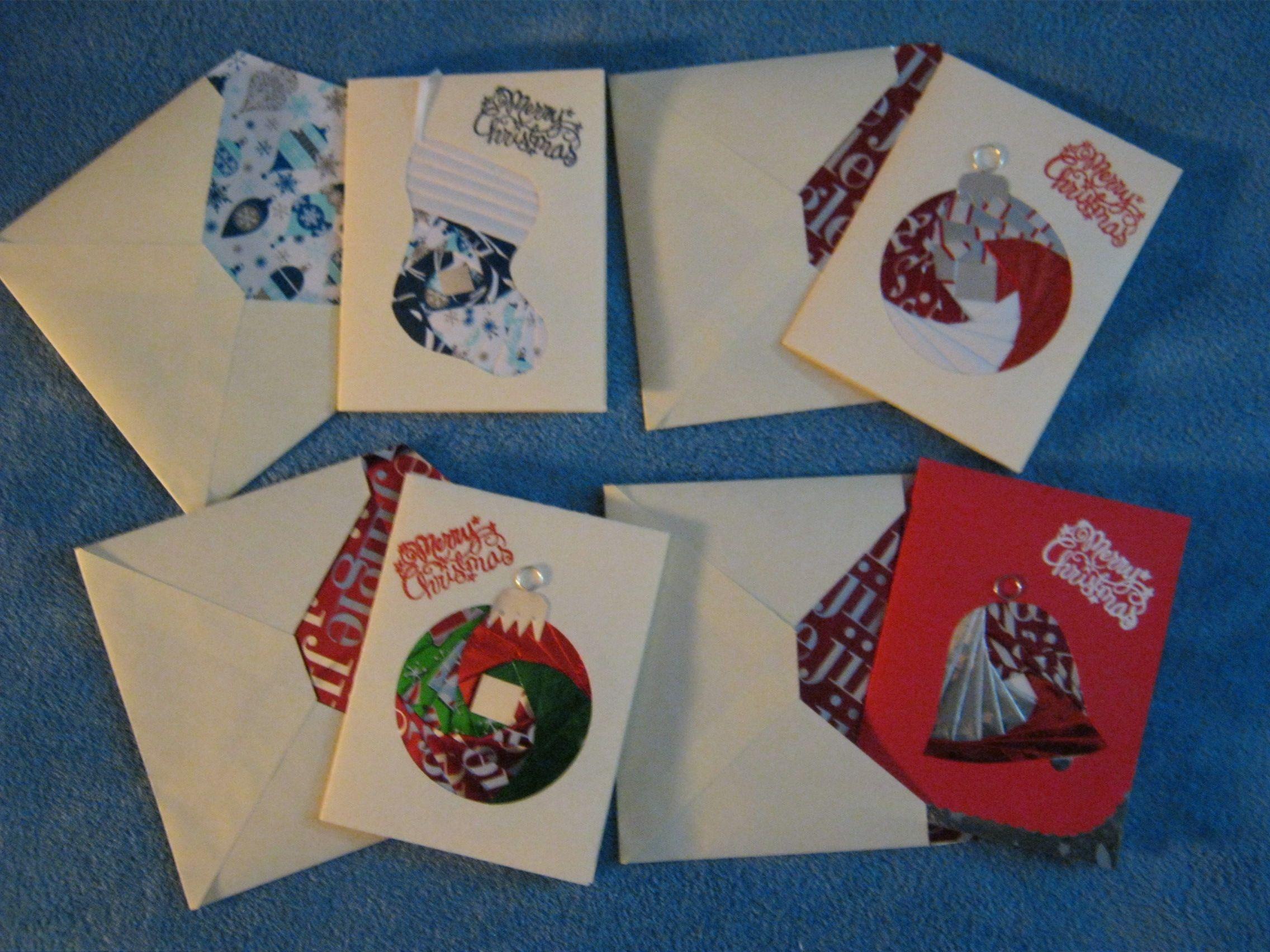 Iris Folding Christmas Cards For 2012