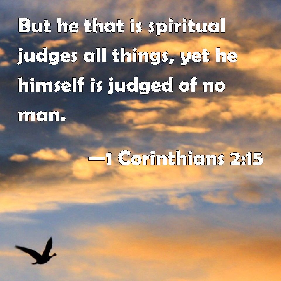 Image result for 1 Corinthians 2:15