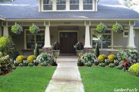 Craftsman style homes pictures craftsman style home gardenpuzzle online garden planning tool