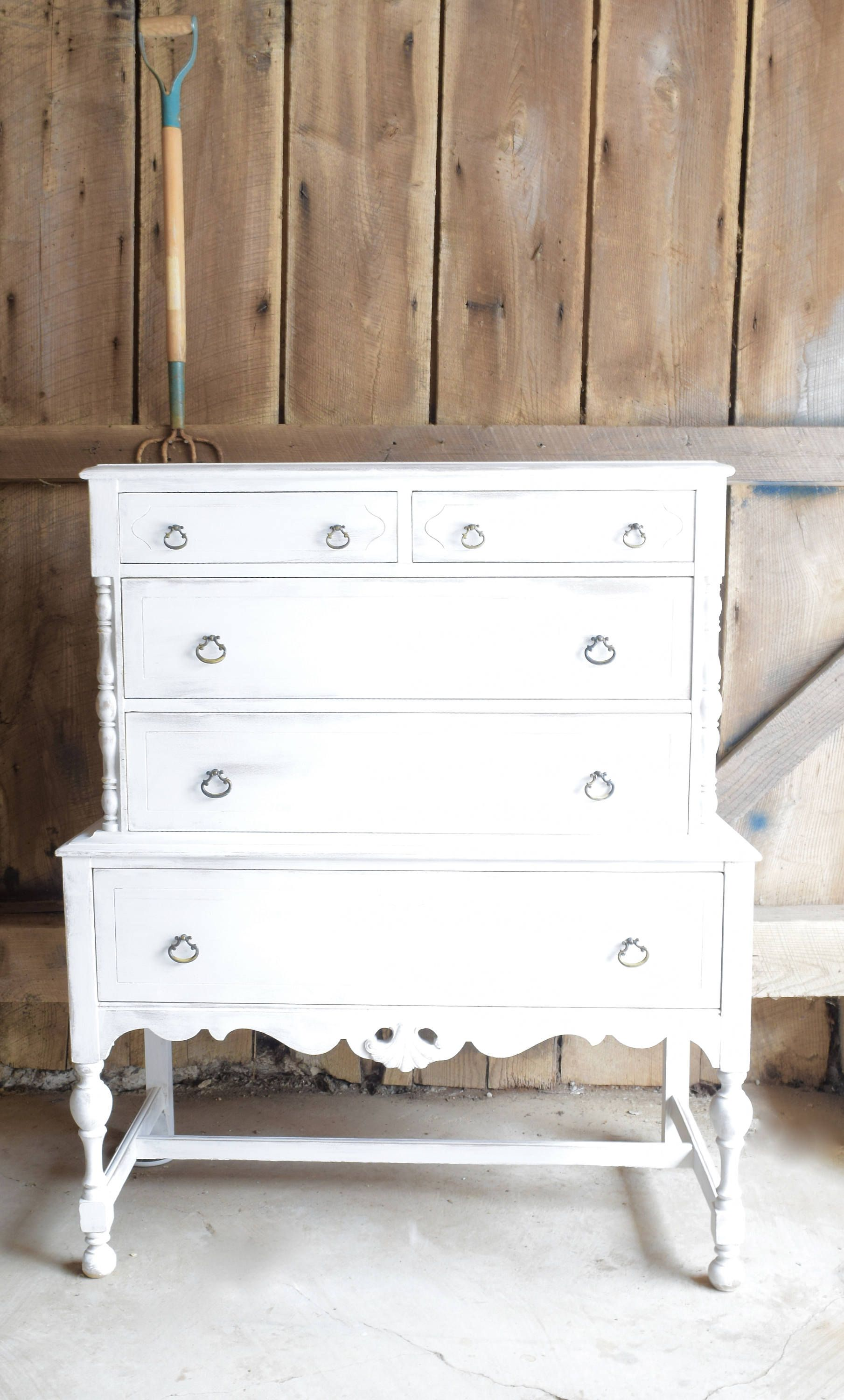 Reserved Listing For Emily Please Do Not Purchase If You Are Etsy Vintage Dressers Furniture Inspiration White Vintage [ 3000 x 1809 Pixel ]