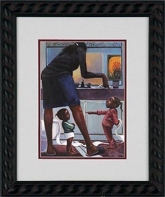 """African #american #black art #print """"she did it"""" by lonnie ollivierre,  View more on the LINK: http://www.zeppy.io/product/gb/2/141854111557/"""