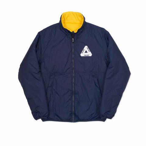 6bf6b575cfc3 Palace Reversible Thinsulate Jacket Mood Indigo Yellow