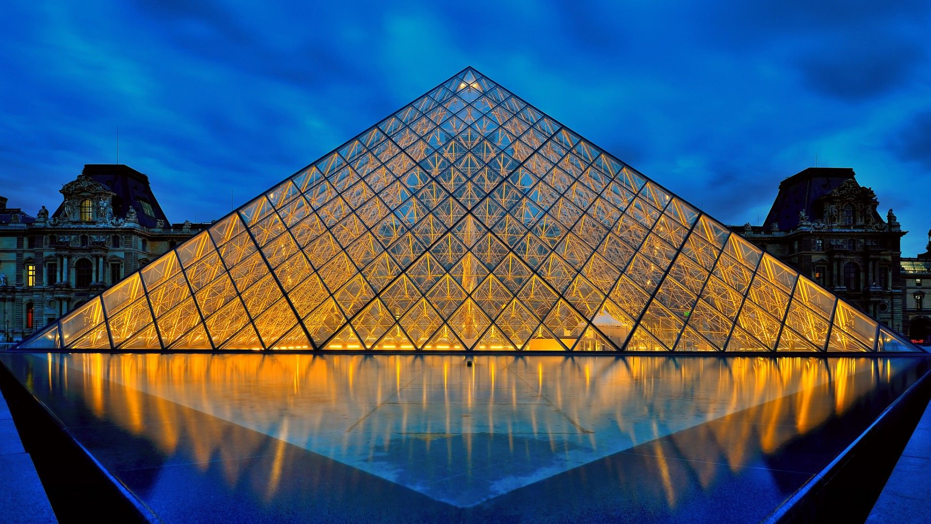 the louvre full hd wallpaper - travel hd wallpapers | triangles