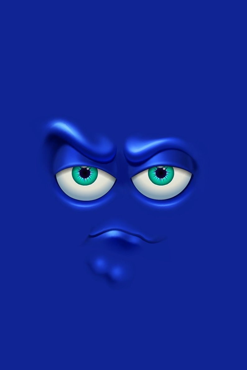 Pin Oleh Nabila Marsha Di Funny Face Kertas Dinding Ilustrasi Seni Emoji wallpaper hd blue