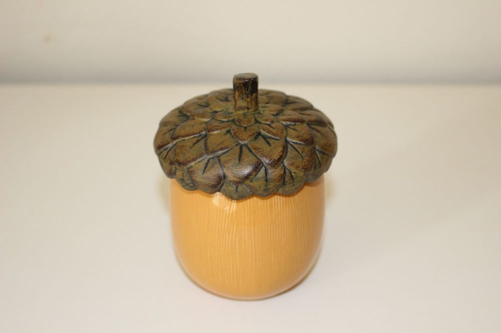 Hallmark Acorn Shaped Candle Holder With Pumpkin Spice Scented Candle