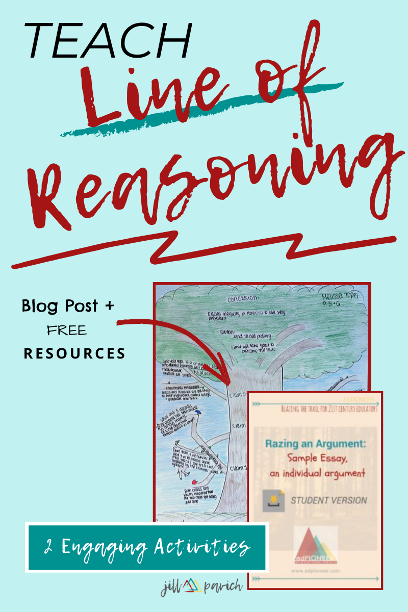 Teach Line Of Reasoning With These 2 Engaging Activitie Teaching Writing Ela Myself Essay On