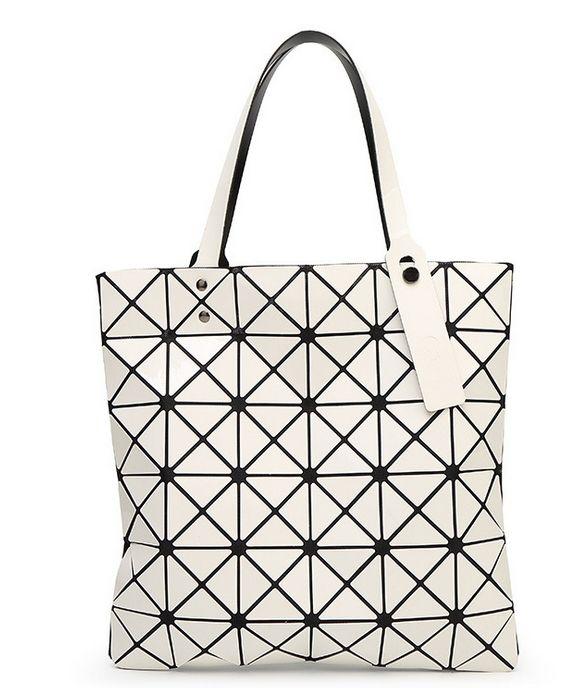 ead687dd5c 2015 New Fashion issey Miyake BAO BAO women s lattice geometry Quilted  handbag Geometric mosaic tote bag