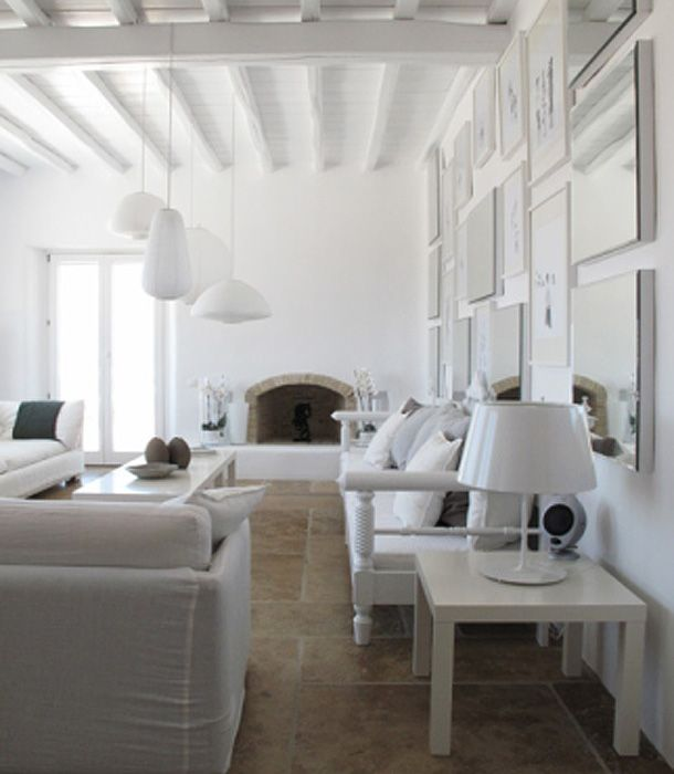 Modern White Decor White On White Pinterest Painted
