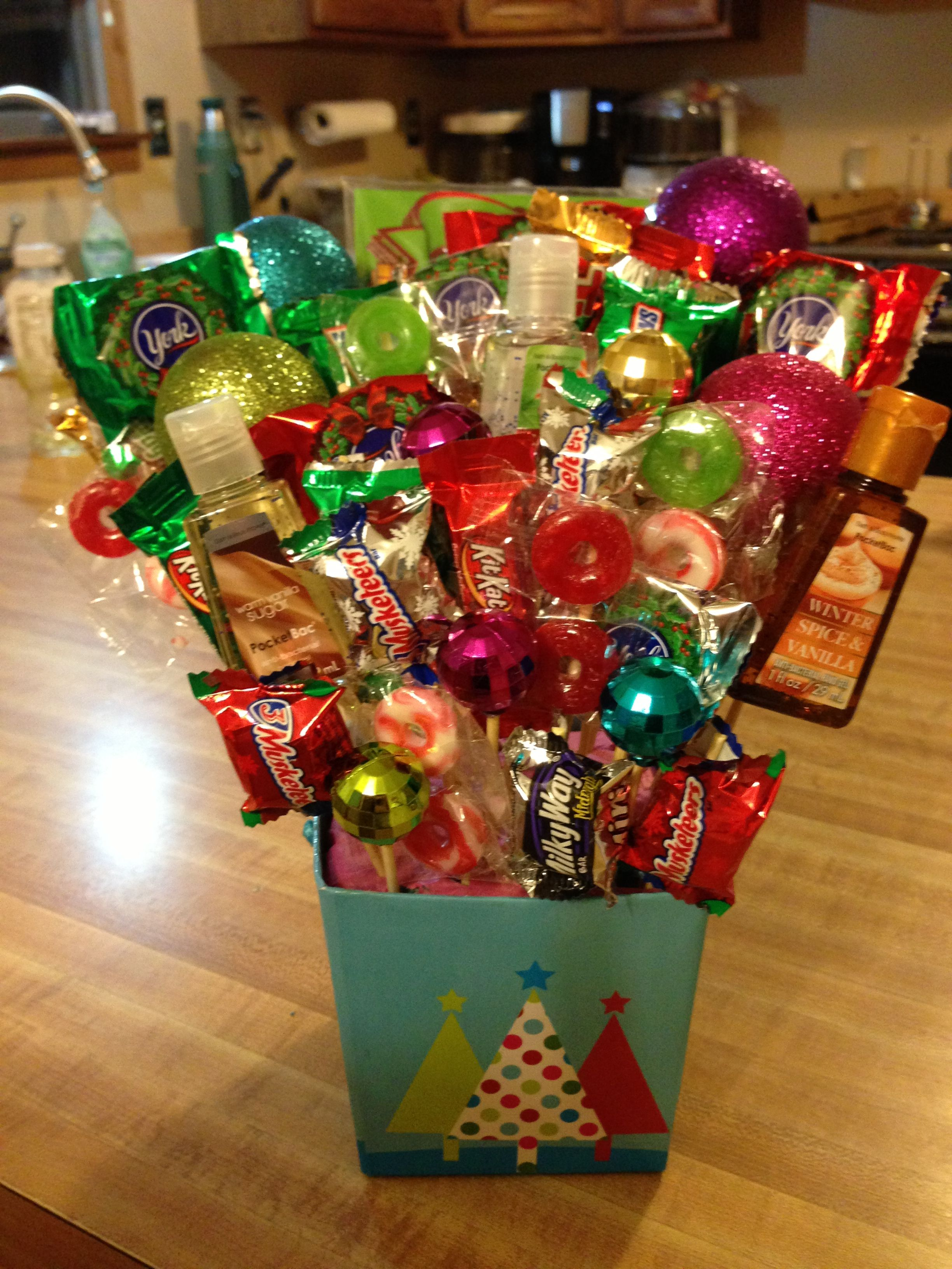gift card basket idea christmas basket o made fo boss with favorite candies and 4636